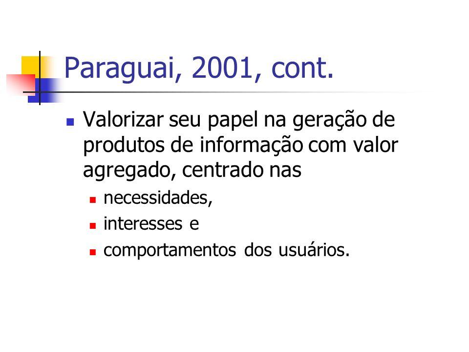 UFRGS, 2005 – Disciplinas e súmulas Serviços de Informação em Rede Sociedade da Informação e do Conhecimento.
