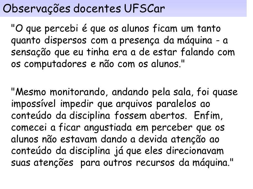 Observações docentes UFSCar