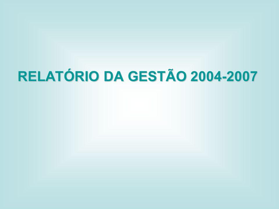 RELATÓRIO DA GESTÃO 2004-2007