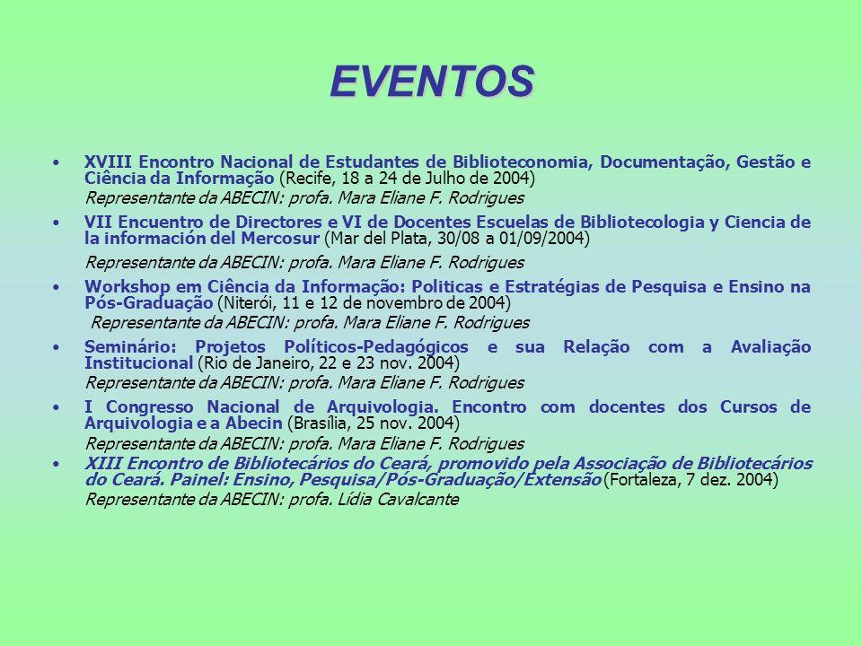 EVENTOS XVIII Encontro Nacional de Estudantes de Biblioteconomia, Documentação, Gestão e Ciência da Informação (Recife, 18 a 24 de Julho de 2004) Repr