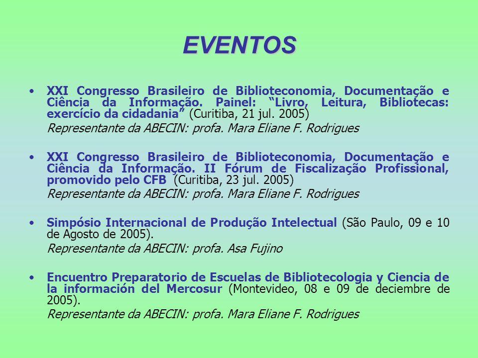 EVENTOS XXI Congresso Brasileiro de Biblioteconomia, Documentação e Ciência da Informação. Painel: Livro, Leitura, Bibliotecas: exercício da cidadania