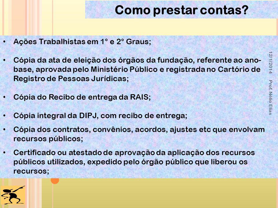 Ações Trabalhistas em 1° e 2° Graus; Cópia da ata de eleição dos órgãos da fundação, referente ao ano- base, aprovada pelo Ministério Público e regist