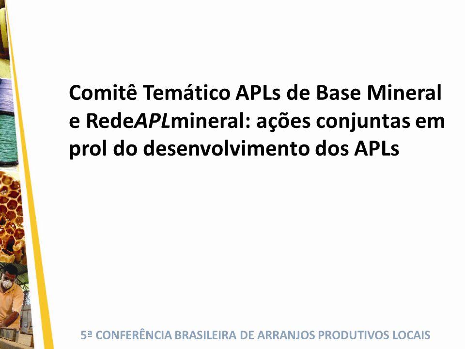 5ª CONFERÊNCIA BRASILEIRA DE ARRANJOS PRODUTIVOS LOCAIS IX S eminário N acional de APLs de Base Mineral VI E ncontro da RedeAPLmineral 09 a 11 de outubro de 2012 SALVADOR BAHIA AGENDAR PARTICIPAÇÃO