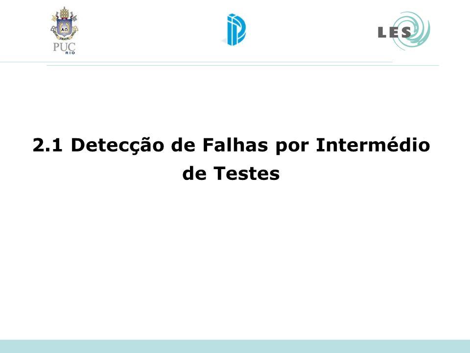 2.1 Detecção de Falhas por Intermédio de Testes