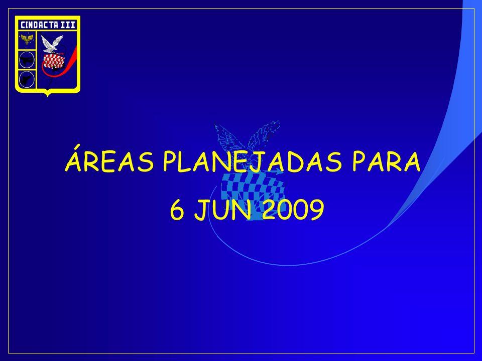 ÁREAS PLANEJADAS PARA 6 JUN 2009