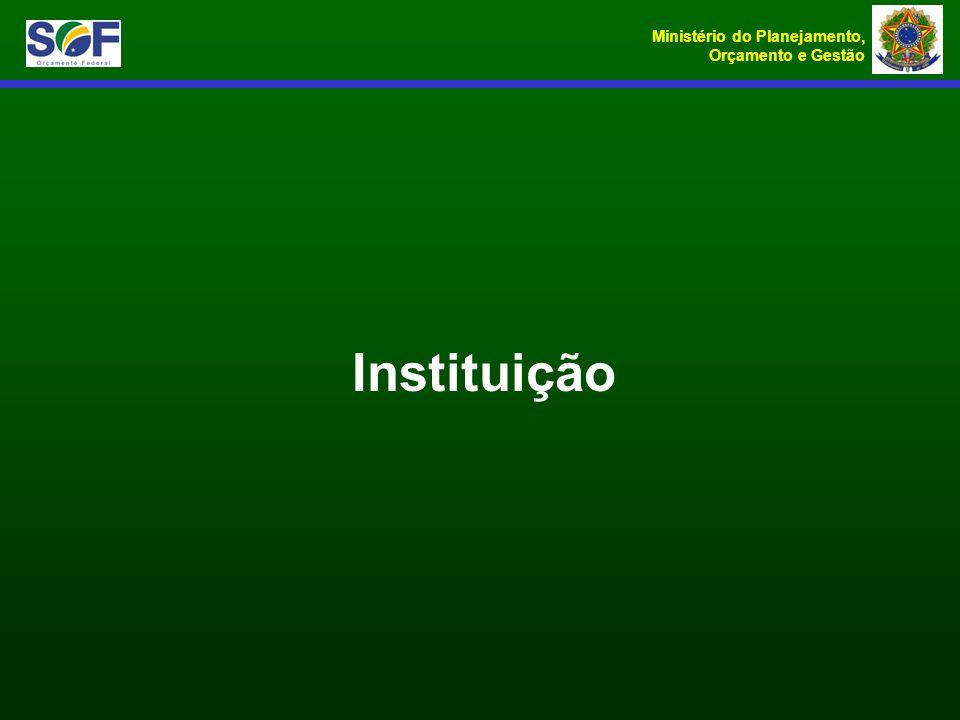 Ministério do Planejamento, Orçamento e Gestão Instituição