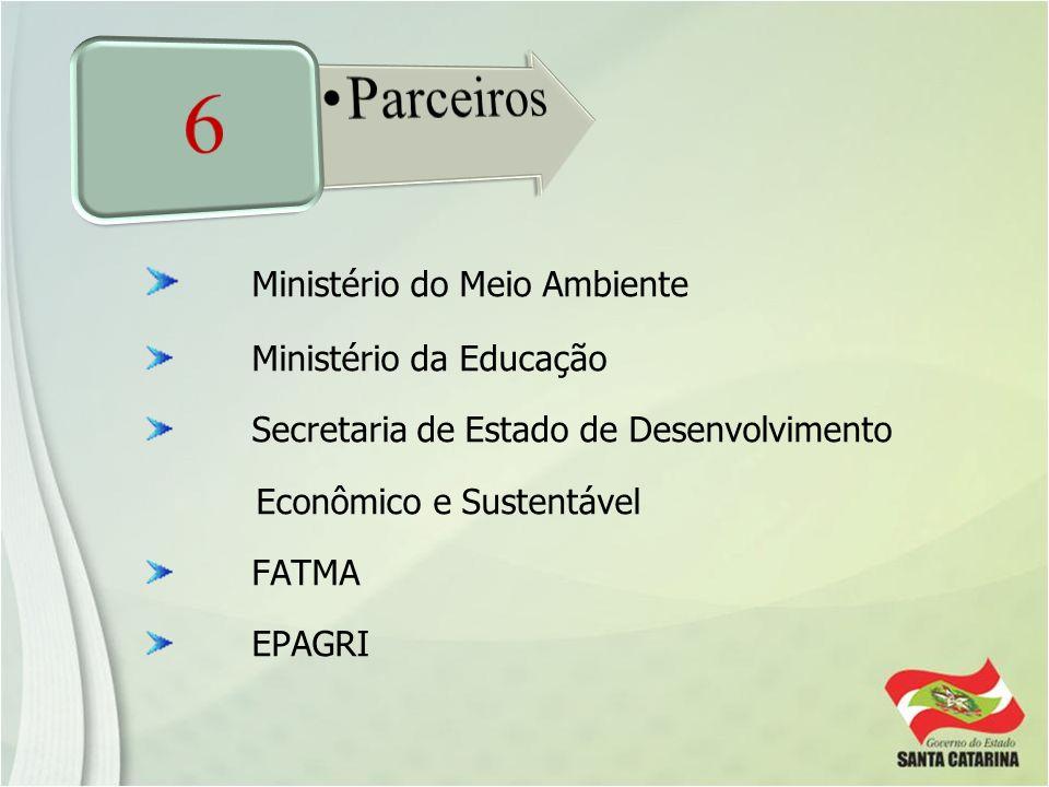 Ministério do Meio Ambiente Ministério da Educação Secretaria de Estado de Desenvolvimento Econômico e Sustentável FATMA EPAGRI