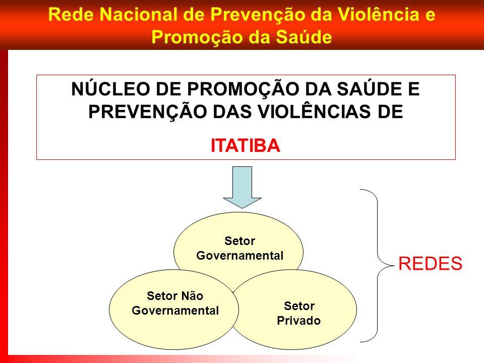 Rede Nacional de Prevenção da Violência e Promoção da Saúde NÚCLEO DE PROMOÇÃO DA SAÚDE E PREVENÇÃO DAS VIOLÊNCIAS DE ITATIBA Setor Governamental Seto