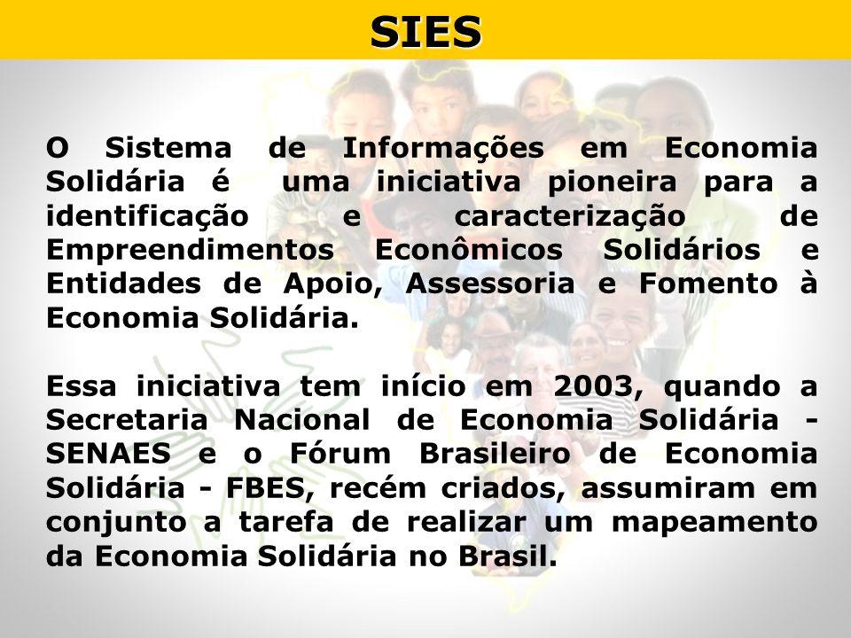 O Sistema de Informações em Economia Solidária é uma iniciativa pioneira para a identificação e caracterização de Empreendimentos Econômicos Solidário