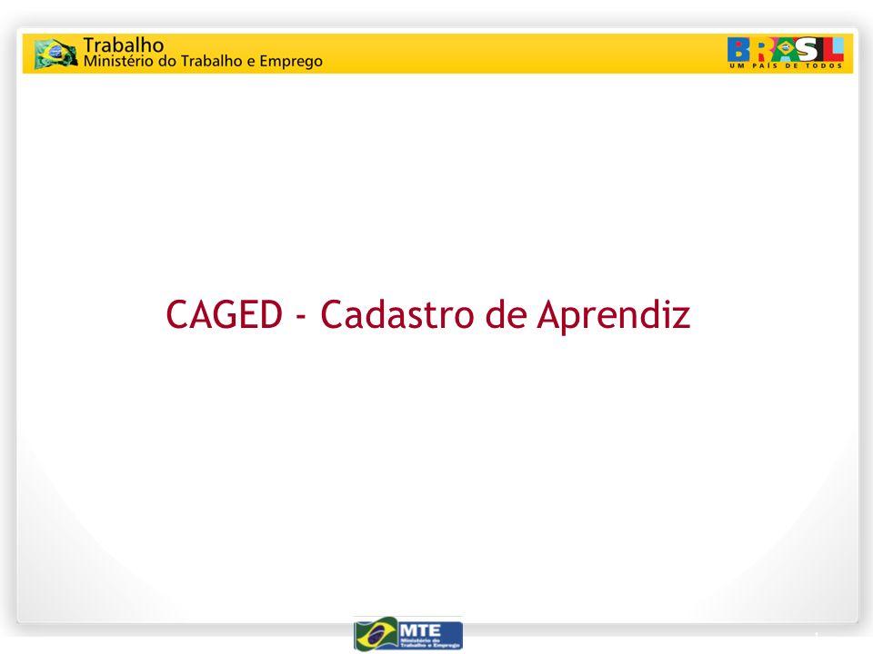 1 CAGED - Cadastro de Aprendiz