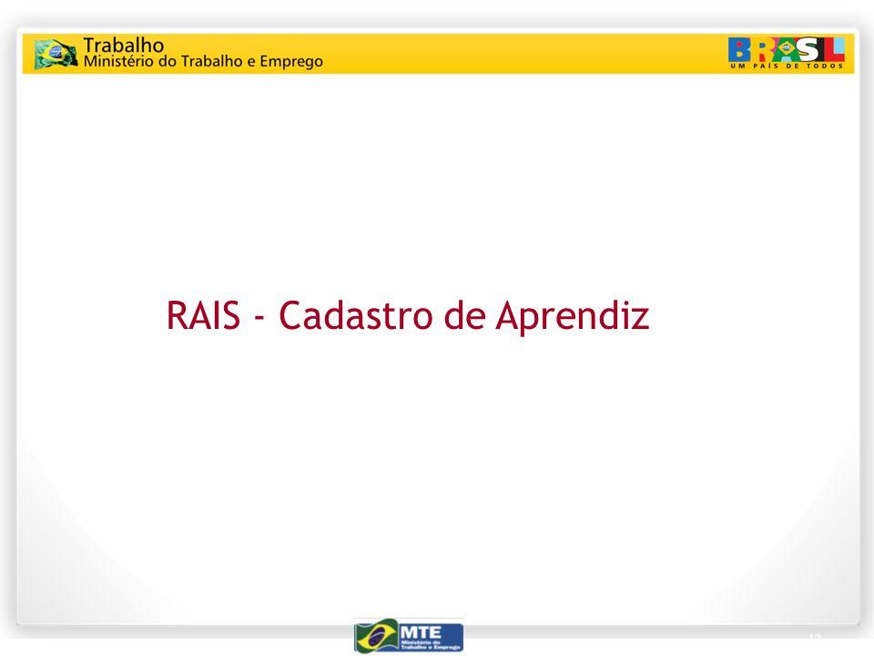 12 RAIS - Cadastro de Aprendiz