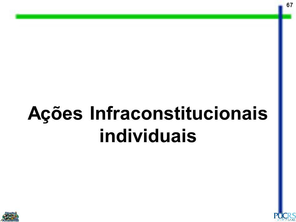 67 Ações Infraconstitucionais individuais