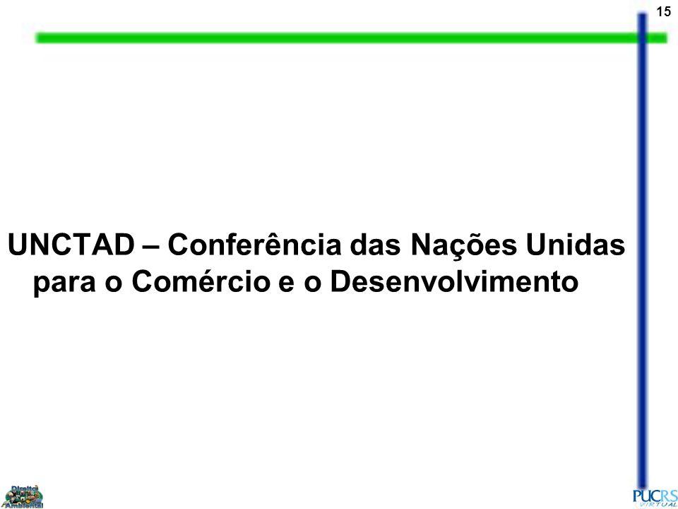 15 UNCTAD – Conferência das Nações Unidas para o Comércio e o Desenvolvimento