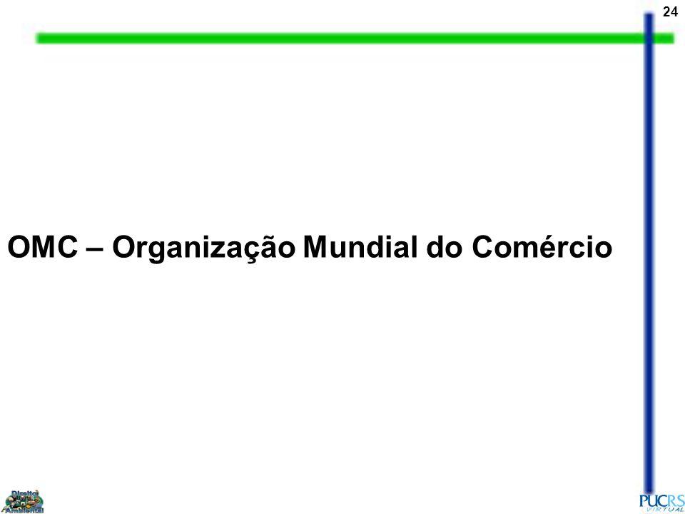 24 OMC – Organização Mundial do Comércio