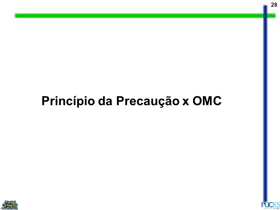28 Princípio da Precaução x OMC