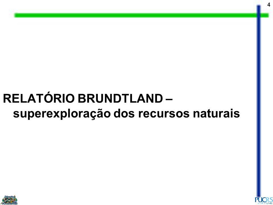 4 RELATÓRIO BRUNDTLAND – superexploração dos recursos naturais