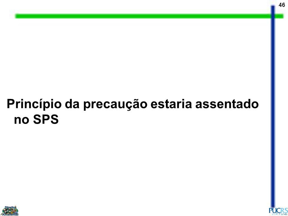 46 Princípio da precaução estaria assentado no SPS