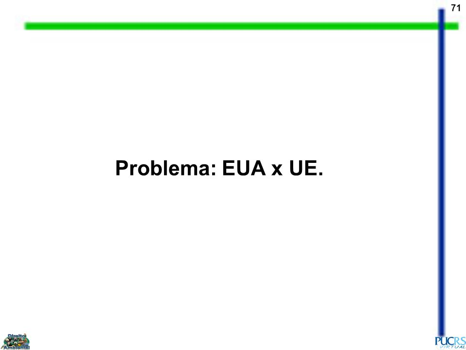 71 Problema: EUA x UE.