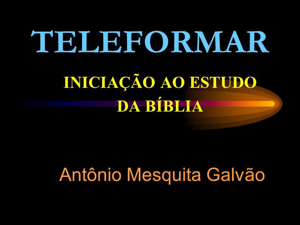 TELEFORMAR INICIAÇÃO AO ESTUDO DA BÍBLIA Antônio Mesquita Galvão
