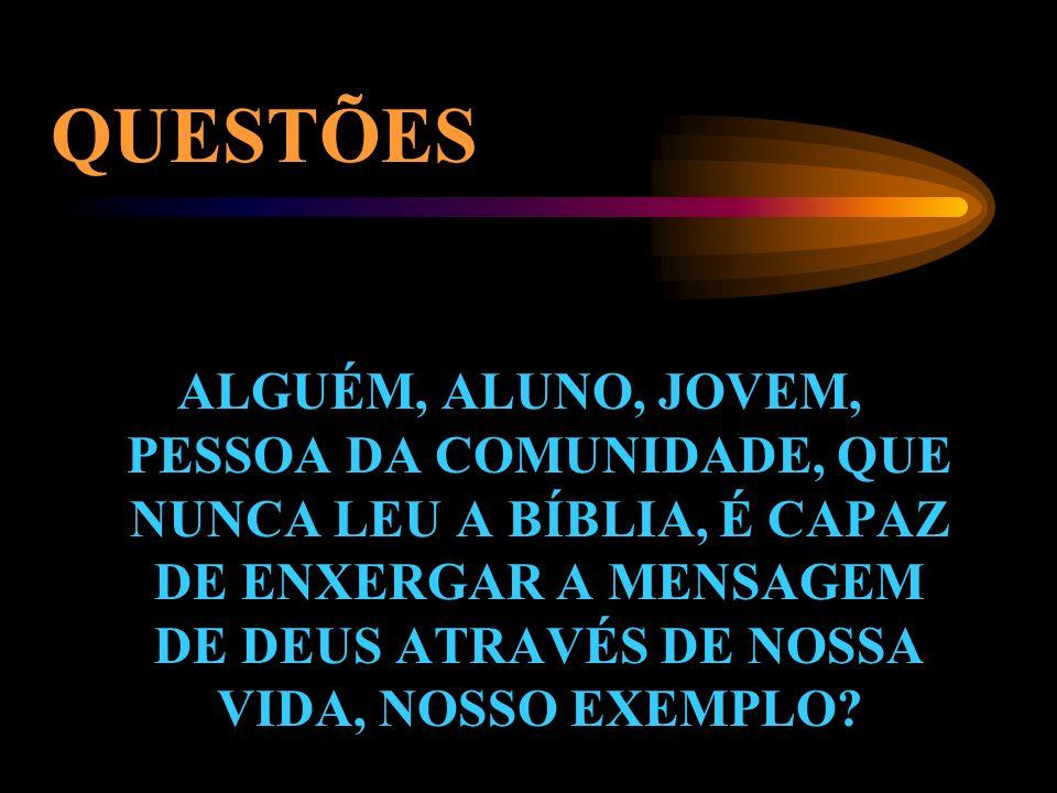QUESTÕES VOCÊ TEM BÍBLIA? VOCÊ JÁ LEU A BÍBLIA? VOCÊ CITA A BÍBLIA? VOCÊ VIVE A BÍBLIA?