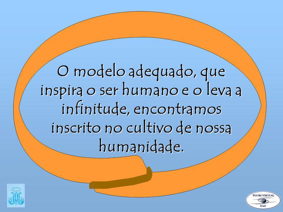 O modelo adequado, que inspira o ser humano e o leva a infinitude, encontramos inscrito no cultivo de nossa humanidade.