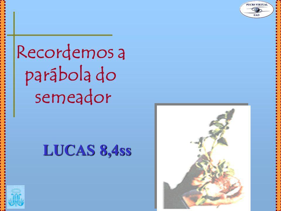 Recordemos a parábola do semeador LUCAS 8,4ss