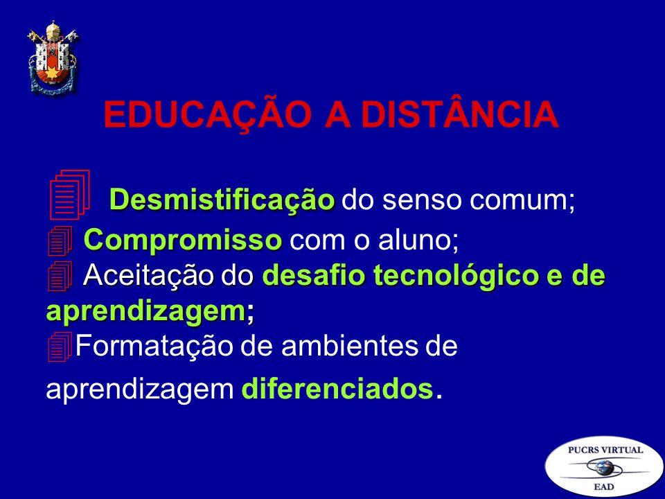 Desmistificação 4 Desmistificação do senso comum; 4 Compromisso 4 Compromisso com o aluno; 4 Aceitação do desafio tecnológico e de aprendizagem; 4 For