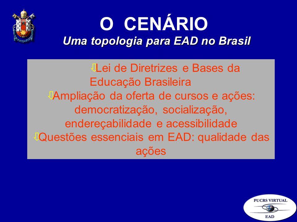 O CENÁRIO òLei de Diretrizes e Bases da Educação Brasileira òAmpliação da oferta de cursos e ações: democratização, socialização, endereçabilidade e a