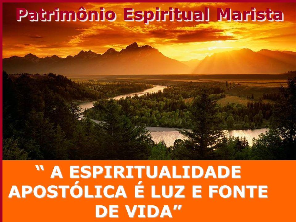 A ESPIRITUALIDADE APOSTÓLICA É LUZ E FONTE DE VIDA A ESPIRITUALIDADE APOSTÓLICA É LUZ E FONTE DE VIDA Patrimônio Espiritual Marista