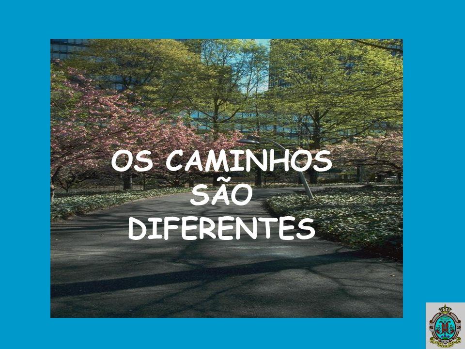 OS CAMINHOS SÃO DIFERENTES