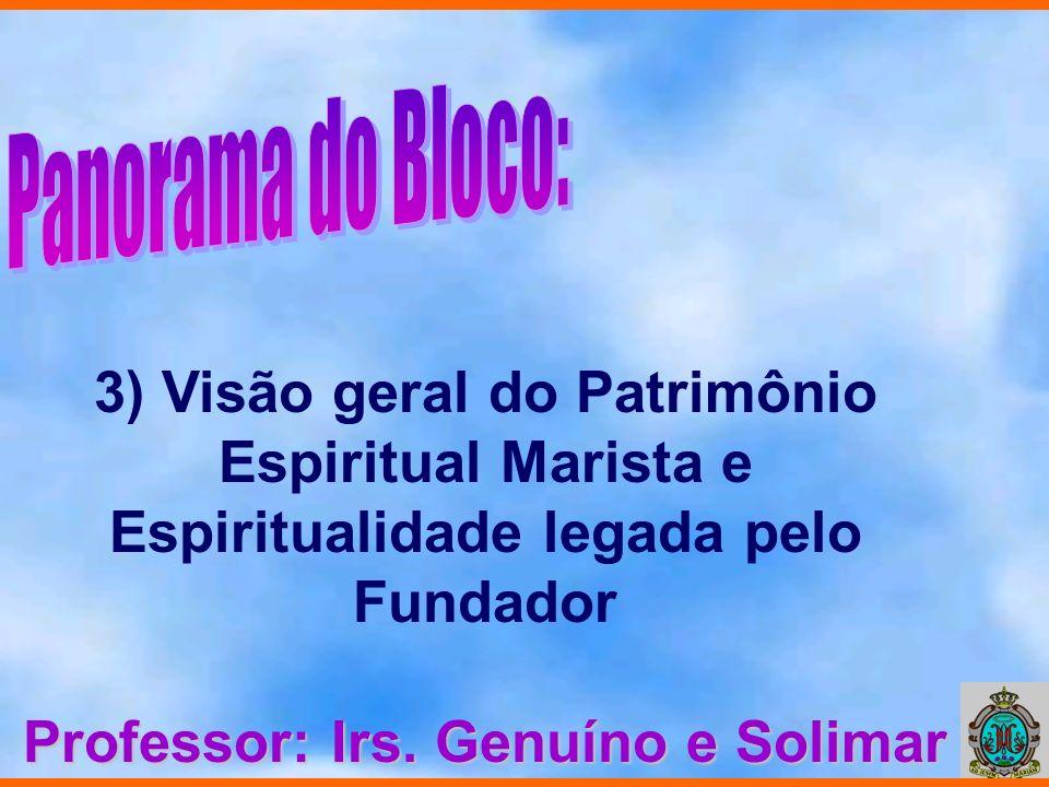 4) Espiritualidade do Educador Marista Professor: Irs. Antônio Silva, Solimar e Prof. Edison