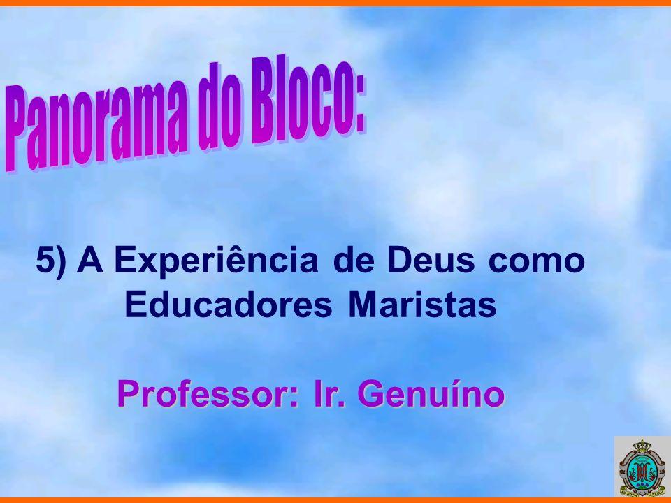 5) A Experiência de Deus como Educadores Maristas Professor: Ir. Genuíno