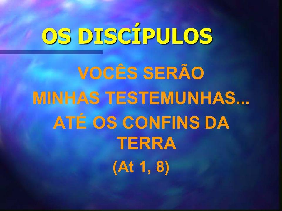 OS DISCÍPULOS VOCÊS SERÃO MINHAS TESTEMUNHAS... ATÉ OS CONFINS DA TERRA (At 1, 8)