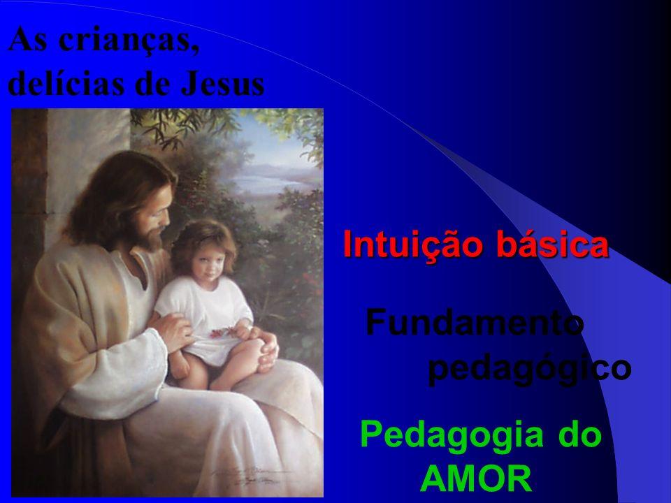 As crianças, delícias de Jesus Intuição básica Fundamento pedagógico Pedagogia do AMOR
