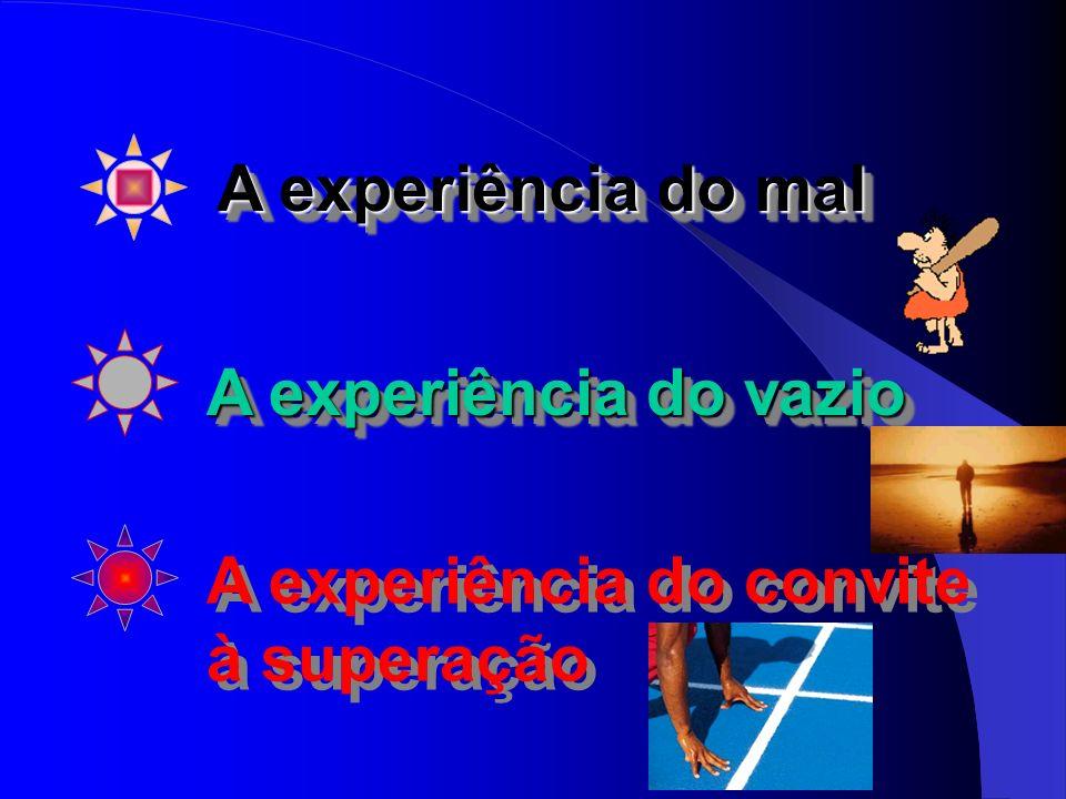 A experiência do vazio A experiência do convite à superação A experiência do convite à superação A experiência do mal A experiência do mal