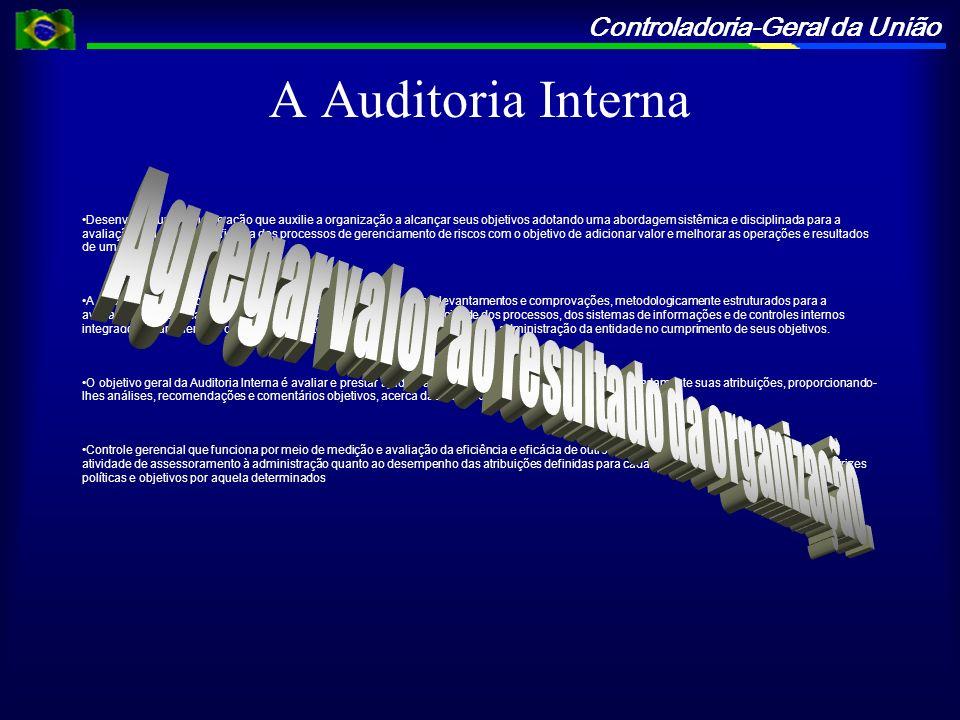 Controladoria-Geral da União A Auditoria Interna Desenvolver um plano de ação que auxilie a organização a alcançar seus objetivos adotando uma abordag