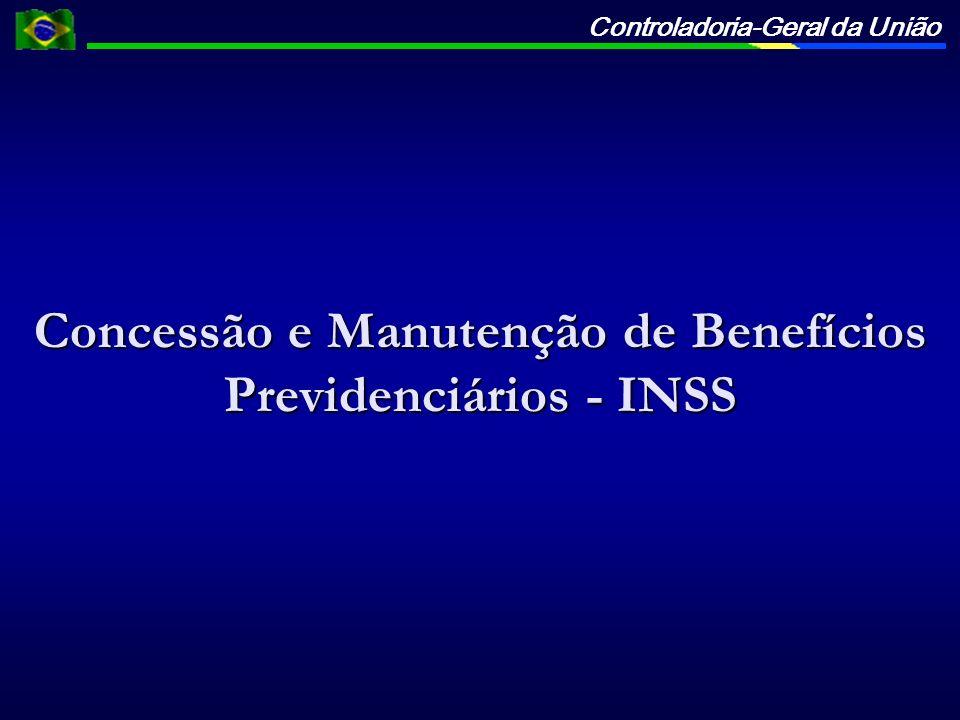 Controladoria-Geral da União Concessão e Manutenção de Benefícios Previdenciários - INSS