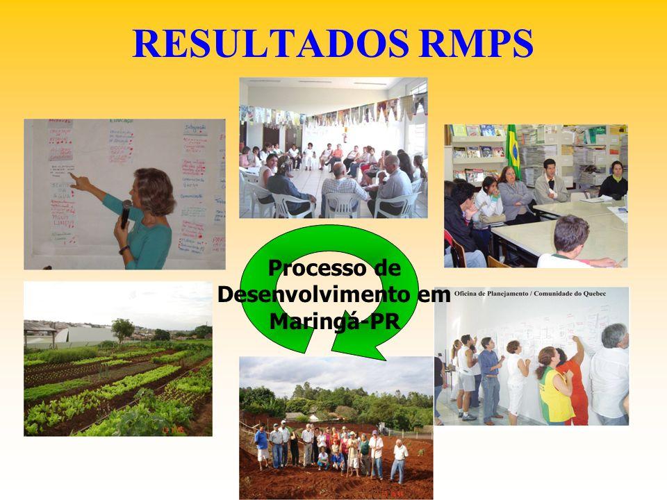 RESULTADOS RMPS Processo de Desenvolvimento em Maringá-PR
