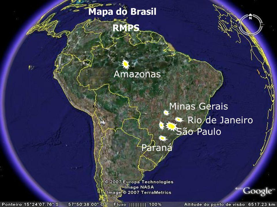Mapa do Brasil RMPS \ Amazonas Minas Gerais São Paulo Paraná Rio de Janeiro