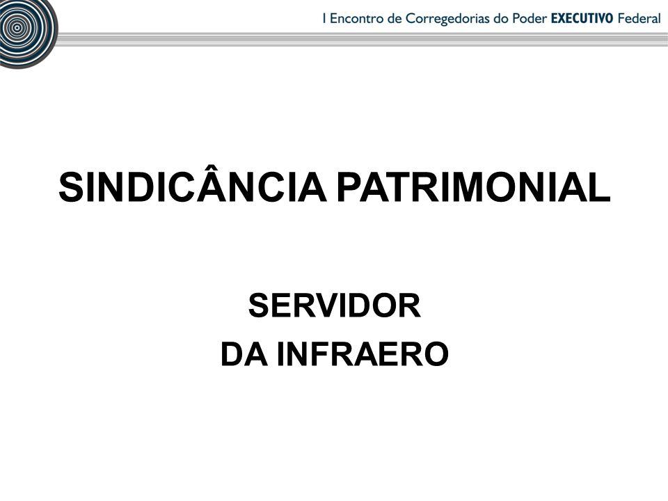 SINDICÂNCIA PATRIMONIAL SERVIDOR DA INFRAERO