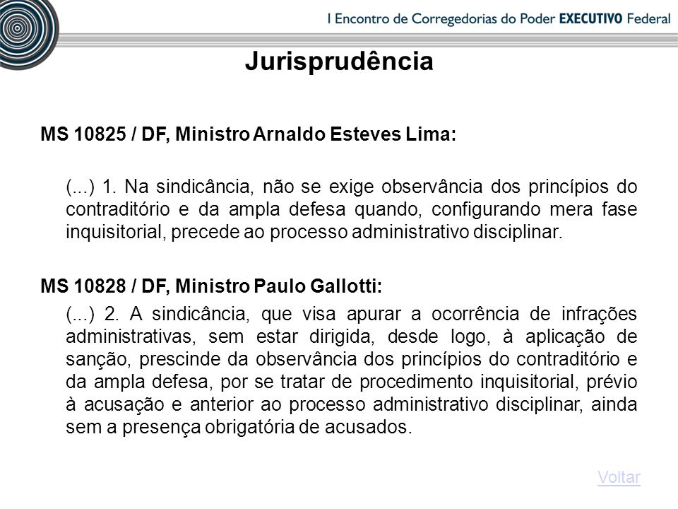 MS 10825 / DF, Ministro Arnaldo Esteves Lima: (...) 1.