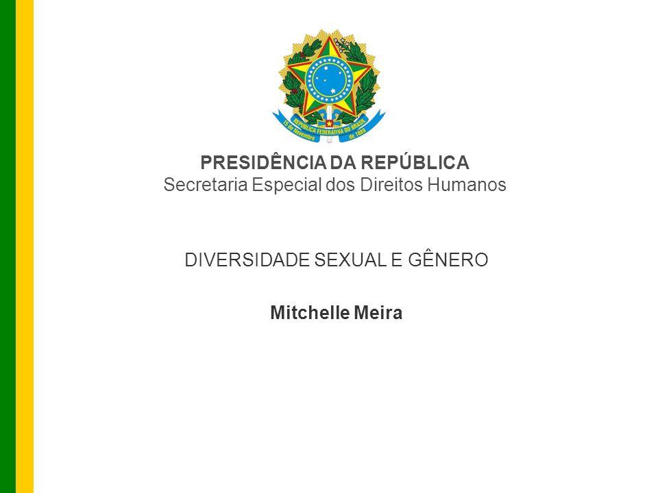 PRESIDÊNCIA DA REPÚBLICA Secretaria Especial dos Direitos Humanos DIVERSIDADE SEXUAL E GÊNERO Mitchelle Meira