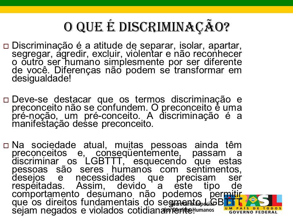 O que é Discriminação.