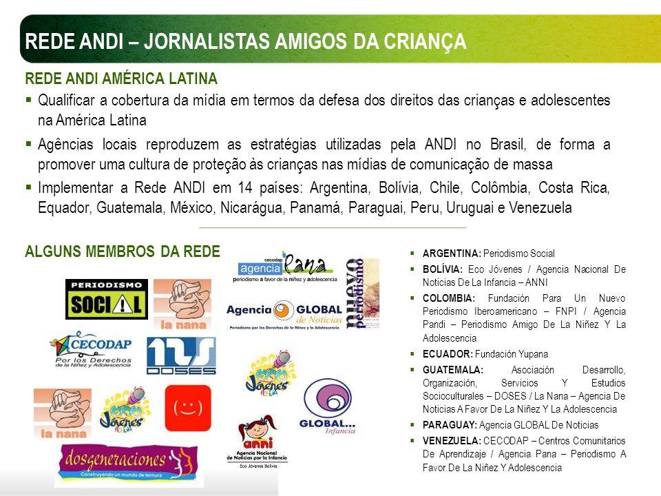 Qualificar a cobertura da mídia em termos da defesa dos direitos das crianças e adolescentes na América Latina Agências locais reproduzem as estratégi
