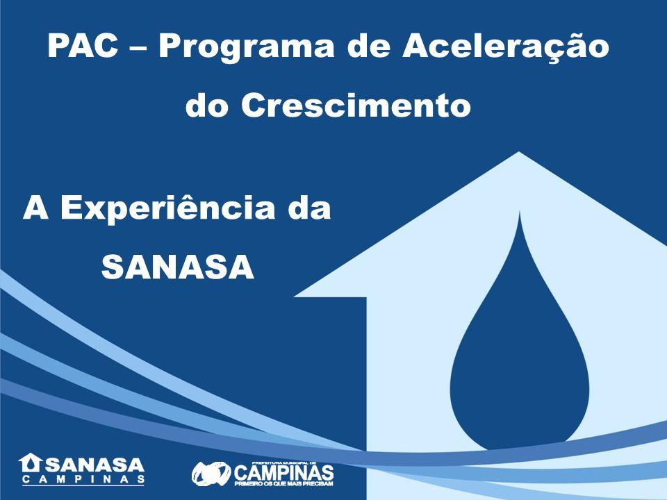 PAC – Programa de Aceleração do Crescimento: Plano do Governo Federal - 28/01/2007 Crescimento da economia brasileira Investimentos em obras de infra estrutura nas áreas de transporte, energia, saneamento, habitação e recursos hídricos.