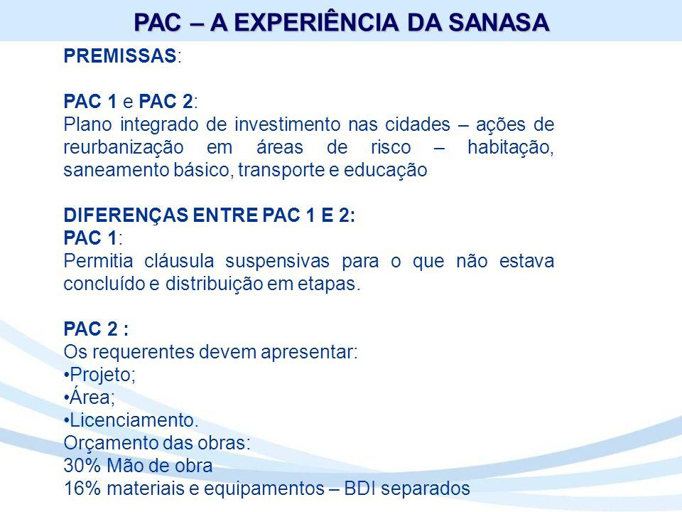 OBJETO: Sistema de Esgotamento Sanitário e 1ª Etapa da EPAR – 1ª Estação Produtora de Água de Reúso do Brasil.