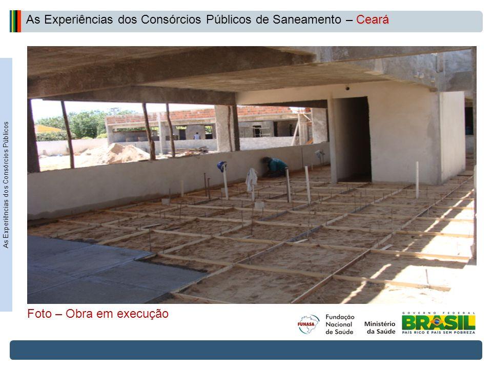 Projeto de Integração do Rio São Francisco As Experiências dos Consórcios Públicos Ceará As Experiências dos Consórcios Públicos de Saneamento – Ceará