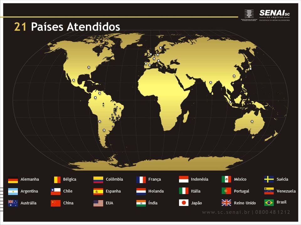 Alemanha Argentina Austrália Bélgica Chile China Colômbia Espanha EUA França Holanda Índia Indonésia Itália Japão México Portugal Reino Unido Suécia V