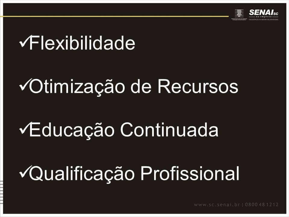 Educação a Distância Diferenciais de EaD do SENAI/SC EXPERIÊNCIA - Atuando em EaD desde 1994 PROXIMIDADE COM A INDÚSTRIA Produto personalizado Recursos didáticos adaptados CAPILARIDADE Rede de atendimento corporativo Agilidade e flexibilidade EXPERTISE Acompanhamento do processo de ensino- aprendizagem Mais de 45 mil matrículas em 2009 Credenciamento do MEC para Pós EaD RECONHECIMENTO -Ganhador do Prêmio e-Learning Brasil 2008 e 2009