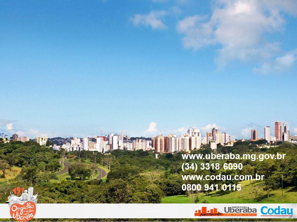 www.uberaba.mg.gov.br (34) 3318 6090 www.codau.com.br 0800 941 0115